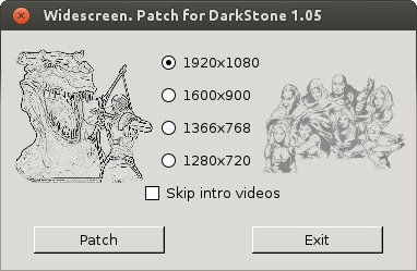 Widescreen patch Darkstone